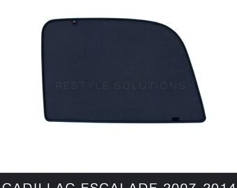 CADILLAC ESCALADE 2007-2014 Car Sun Protection Screen for Rear Side Windows Shade Cover Windows Tint UV Magnet Black Mesh 2 pcs.