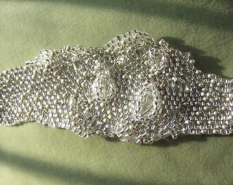 Organic Flow Bracelet, Crystal Ice