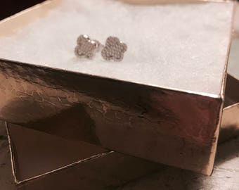 Sterling Silver Cross Studs