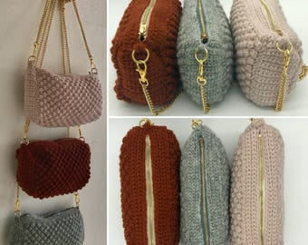 Knitting kit for the ALMOND clutch