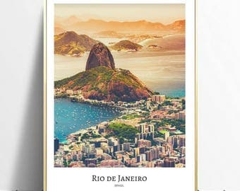 Rio de Janeiro wall art, digital download, A4, instant download