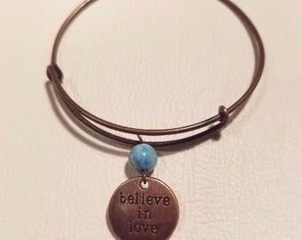 Antique copper finish charm bracelet