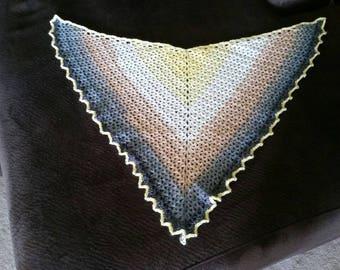 Crochet Shawlette Triangle Scarf