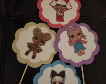 lol dolls cupcake toppers set of 12