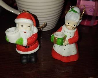 Santa and Mrs Claus R.O.C. tree ornaments