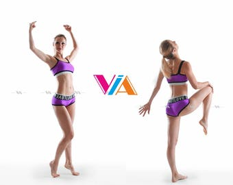 Pole Dance Top & Shorts 2pc VIA MIRROW for Pole Dance   Gym   Yoga   Fitness   Dance   Booty   Sportswear   Activewear   Outfit   Twerk