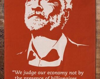 Jeremy Corbyn on the Economy tea towel