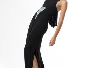 Jersey Frindge Dress