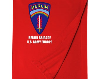 Berlin Brigade Embroidered Blanket-6873