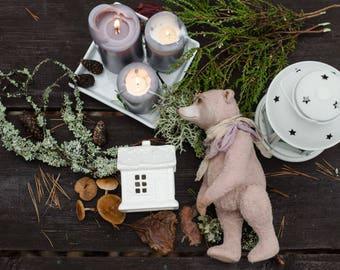 Teddy bear, Teddy Stepan, art doll, staffed teddy, teddy doll, тедди, игрушка тедди, interior doll