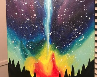 "16""x20"" Colorful Night Sky"