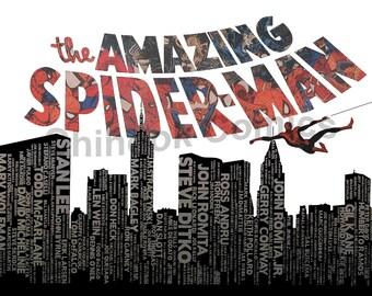AMAZING SPIDER-MAN Poster - 11x17 Digital Download pdf