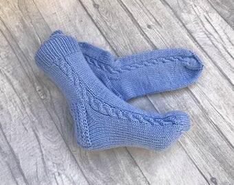 Wool Socks Women - Wool Socks Men - Hand Knit Wool Socks - Women Socks - Handmade Socks, Hand Knitted Socks, Knitted Socks, Women Knit Socks
