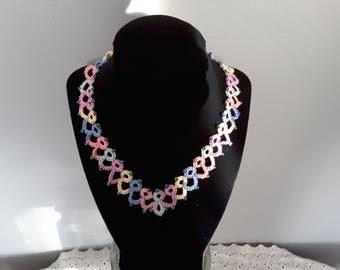 18 inch multi color necklace