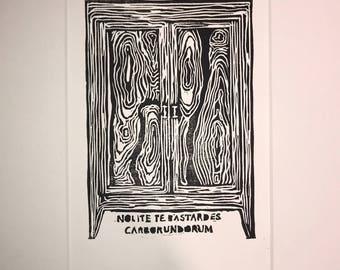 The Handmaid's Tale Linocut Block Print