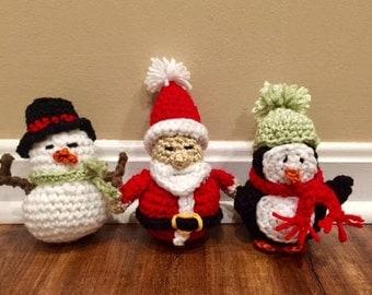Crocheted Christmas Characters