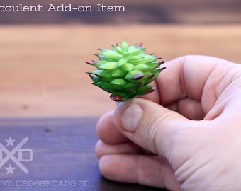 Faux Succulent plant - Add-on item for mini succulent planters, Artificial Succulent, faux plant, artificial plant, fake plant