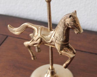 Vintage Bronze Carousel Figurine
