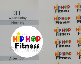 52 fitness stickers,exercise stickers,workout stickers,hip hop fitness,hip hop workout sticker, planner stickers ------M148P
