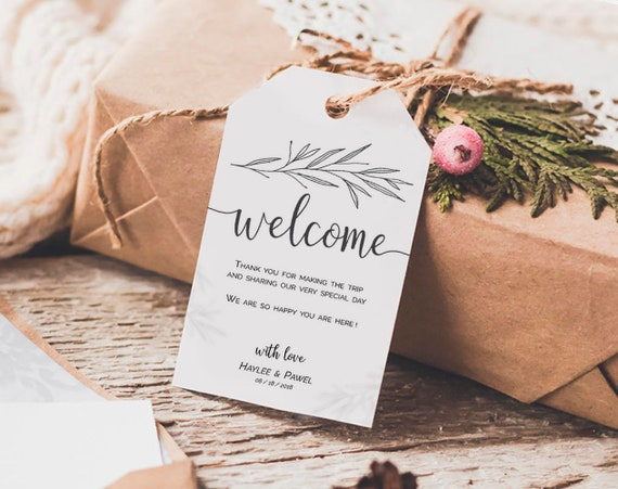 Welcome Wedding Tags Template, Welcome Tags, Welcome Bag Tags ...