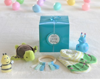 3 year old boy etsy filled easter giftfilled goody box with personalized tag for ages 1 3 year negle Gallery
