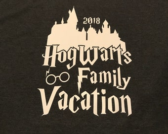 2018 Hogwarts Family Vacation Shirt for the Wizarding World of Harry Potter