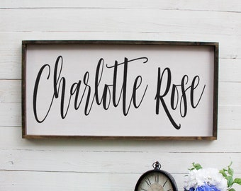 Personalized Baby Name Sign, Personalized Rustic Baby Name Sign, Baby Name Nursery Sign, Nursery Decoration, Rustic Baby Name Nursery Sign
