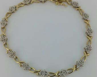 10KT Gold and .70ctw Diamond Bracelet