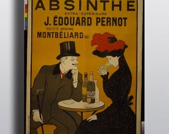 Absinthe, J. Edouard Pernot, Liqueur Mont-Christ - Vintage Alcohol Advertising French Poster Print