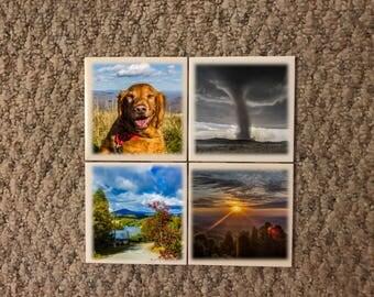 Personalized Custom Photo Ceramic Coasters