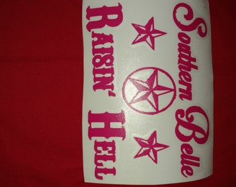 Southern Belle Raising Hell Decal