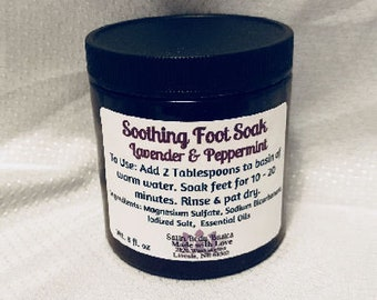 Soothing Foot Soak with Lavender and Peppermint