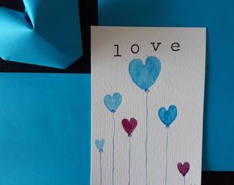 Saint Valentine heart card