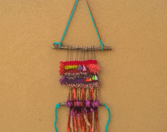 Colour Robot weave wall hanging