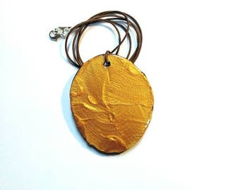 Gold Wood Necklace