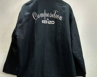 Rare vintage composition by KENZO jacket snap button / KENZO spellout