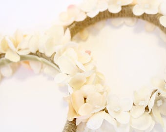 Floral Twine Ears - Off White/Soft Pink All Over
