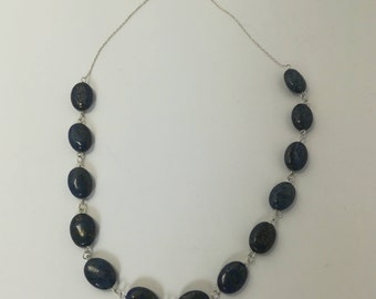 Lapis Lazuli - 925 sterling silver necklace