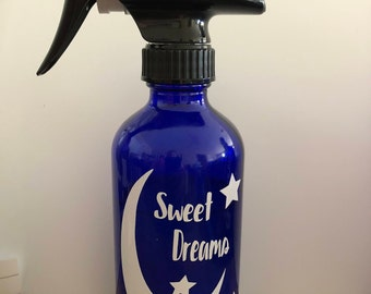 "White Vinyl Decal ""Sweet Dreams"" for Essential oil bottle"