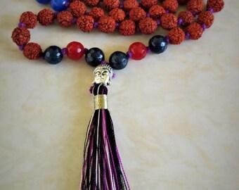 Rudraksha mala beads from India