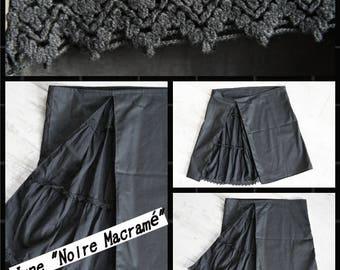"""Skirt """"Black macramé"""""""