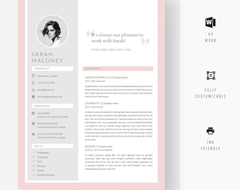 Minimalist Resume, Classic Resume, Resume Template Word, Modern Resume, Creative Resume, Two Page Resume, Professional Resume, Resume Design