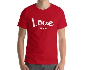 Love Shirt Valentines Day Gift Valentine Graphic Tee Hearts T shirt Unisex Adult