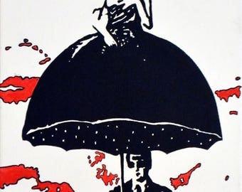 """Umbrella Series #5 Art Print 6x4"""""""