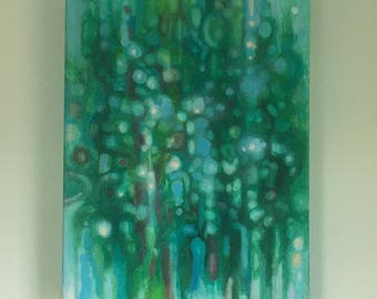 abstract number 16 painting