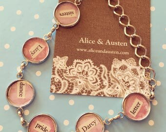 Pride and Prejudice Words Bracelet