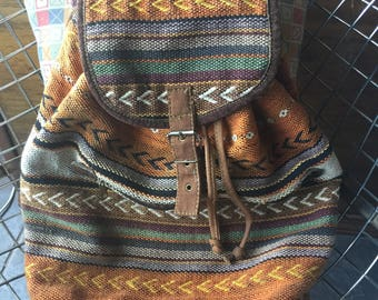 Made in India Woven Kilim Backpack