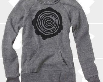 Tree Rings - Women's Slouchy Sweatshirt