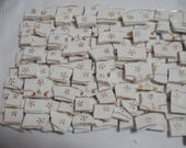 RESERVED FOR BUGSBY Supplies - Mosaic Tile -  White With Gold Flower in each tiles.