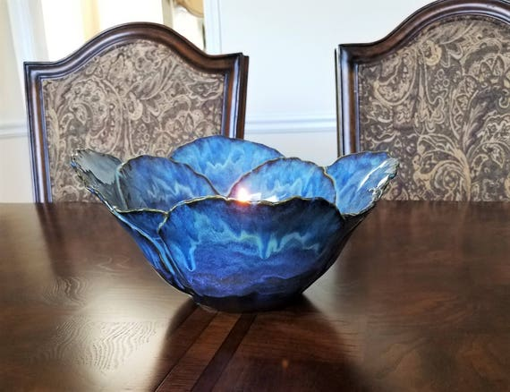 Dining Room Table Centerpiece - Centerpiece Bowl - Fruit Bowl - Candle Holder - Decorative Bowl - Anniversary Gift -  Wedding Gift - Pottery